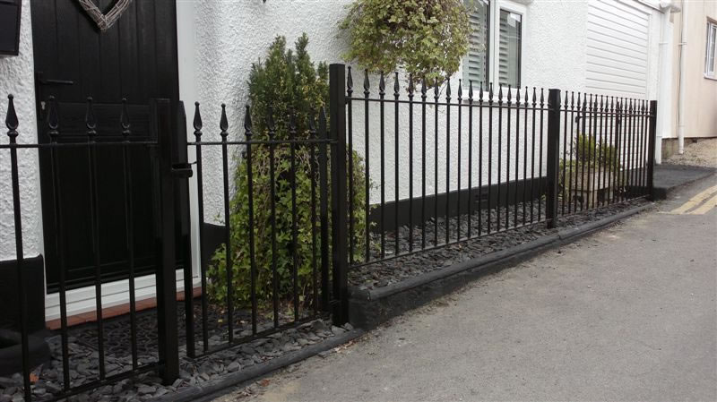 Bespoke Welded Wrought Iron Railings