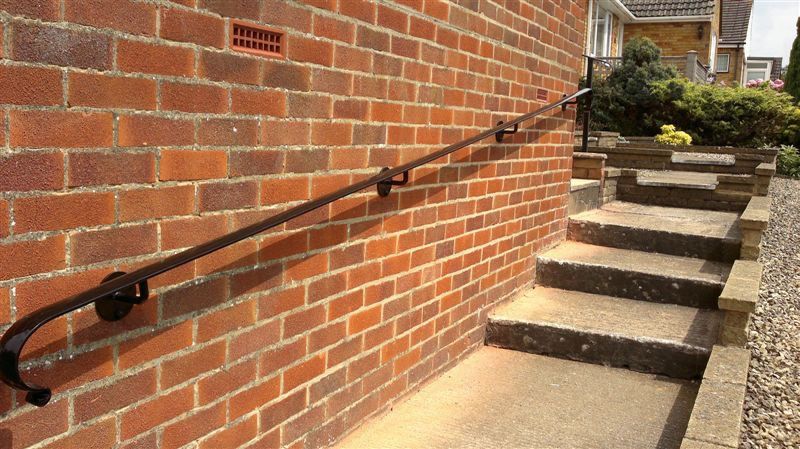 Bespoke Welded Wrought Iron Hand Rails