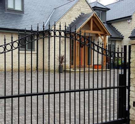 Iron Gates front of property